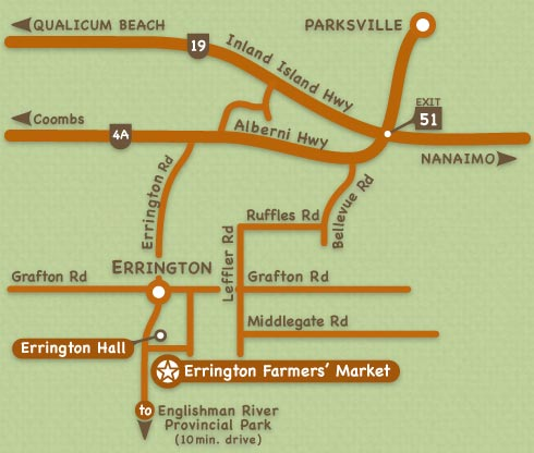 Local Map and Directions to the Errington Farmers' Market
